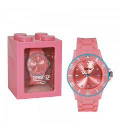 Armbanduhr Time2U rosa-blau