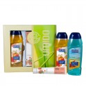 UMIDO Beautyset mit Duschgel 250 ml Pfirsich + Handlotion 45 ml Pfirsich-Extrakt + Duschgel 250 ml Ocean