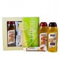 UMIDO Beautyset mit Duschgel 250 ml Shea-Butter & Koriander + Handlotion 45 ml Apfel-Zimt-Extrakt + Duschgel 250 ml Apfel-Zimt