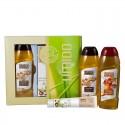 UMIDO Beautyset mit Duschgel 250 ml und Handlotion 45 ml Shea-Butter & Koriander + Duschgel 250 ml Apfel-Zimt