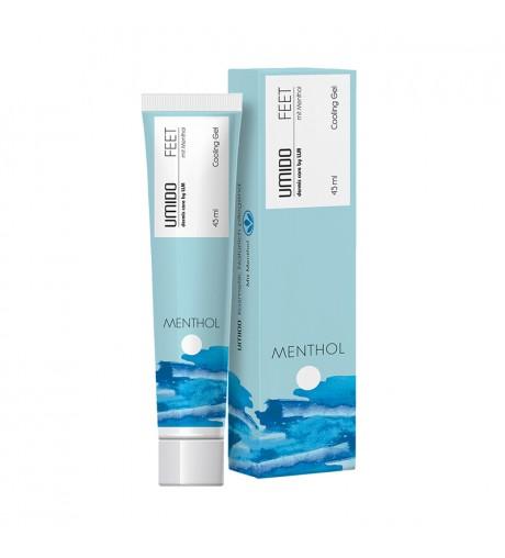 1x UMIDO Cooling-Gel 45 ml Menthol für Füße & Beine | Fußcreme | Fußlotion | Creme | Gel | Fußpflegecreme