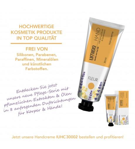 1x UMIDO Hand-Creme 30 ml Honig-Extrakt & Lavendelöl | ohne Parabene | Creme | Pflegecreme | Handlotion