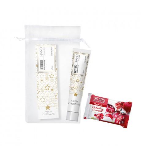 UMIDO Beautyset mit Handlotion 45 ml Mandelöl Weihnachten + Seife 80 g Granatapfel Weihnachten