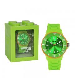 Armbanduhr Time2U grün-orange