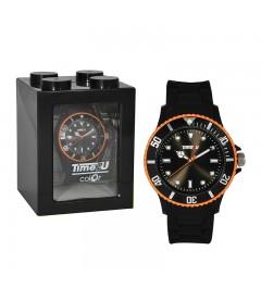Armbanduhr Time2U schwarz-orange