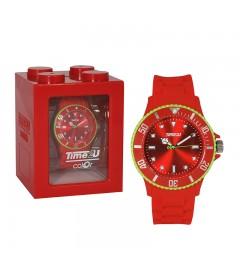 Armbanduhr Time2U rot-grün