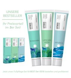 UMIDO 3er Set BESTSELLER - Fußpflegecreme 45 ml - Rosmarin-Extrakt + Latschenkiefer-Extrakt + Menthol