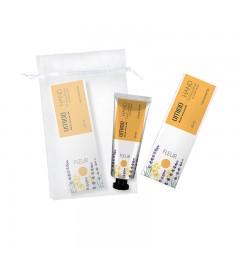 UMIDO Beautyset mit Handcreme 30 ml Honig-Extrakt & Lavendelöl inklusive Organza-Säckchen
