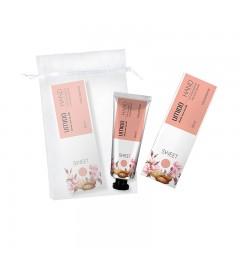 UMIDO Beautyset mit Handcreme 30 ml Mandelöl & Mandel-Extrakt inklusive Organza-Säckchen