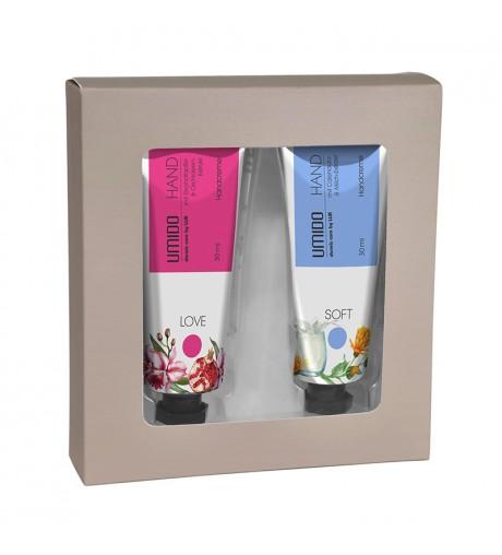 UMIDO Beautyset mit Handcreme 30 ml Granatapfel- und Orchideen-Extrakt + Handcreme 30 ml Calendula- und Milch-Extrakt